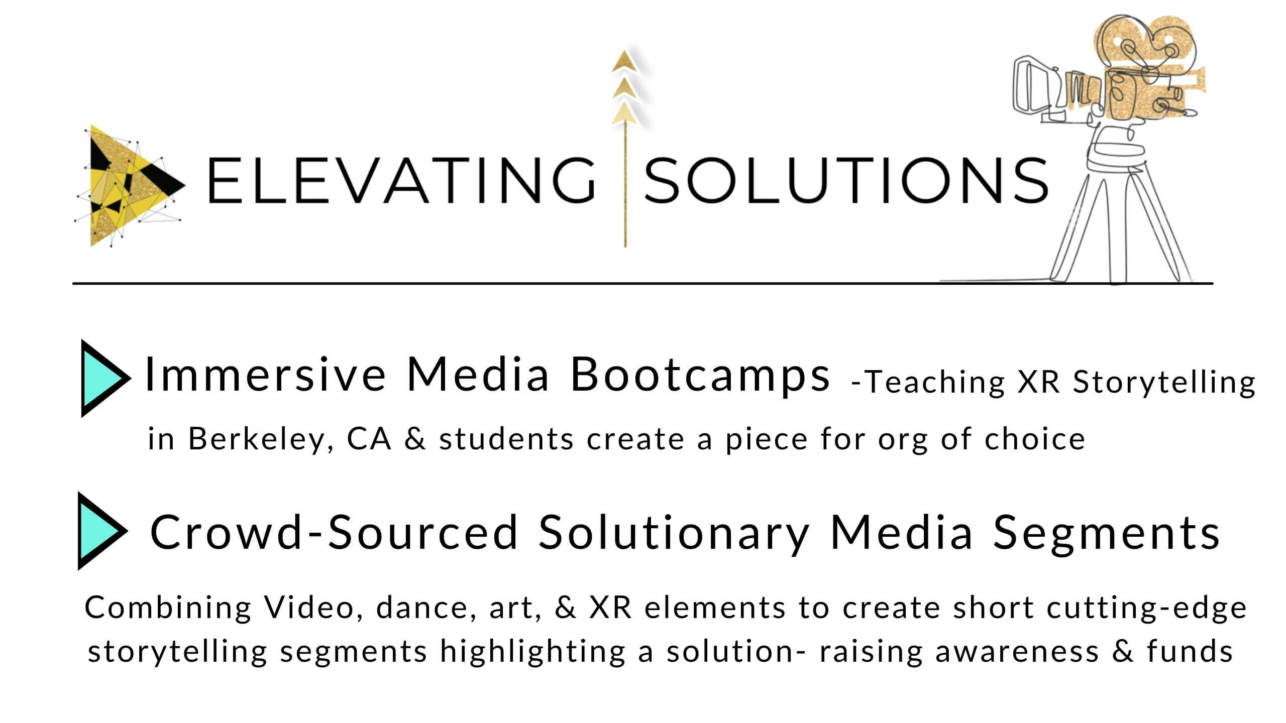 Elevating Solutions immersive media for good project